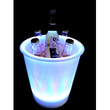 "Fortune Products IB-RGBW9 LED Lighted Ice Bucket, 9.25"" Diameter x 11.5"" Height, 180oz Capacity, Multi-Color"