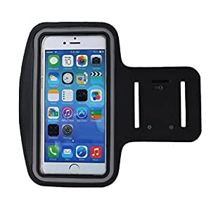Rymemo Adjustable Running Sports Armband Fluorescent Reflective Article for iPhone 6/6S, 6 Plus/6S Plus, 5, 5S, 5C with Key Holder,Black