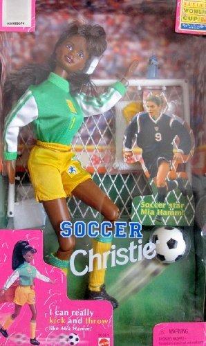 Barbie SOCCER CHRISTIE Doll AA Kicks & Throws Like Mia Hamm! (1998) by Soccer Christie Doll
