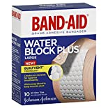 Band Aid Water Block Plus Adhesive Bandages, Large, All One Size, 10 bandages