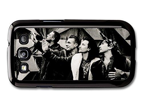 U2 Black and White Band Portrait Waving Hands Bono custodia per Samsung Galaxy S3