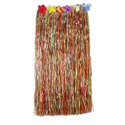 Imported Hawaiian Tropical Hula Luau Grass Dancer Skirt 80cm - Multi-color