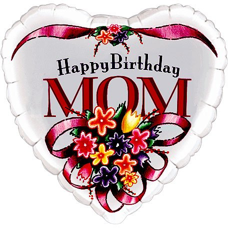 "18"" Happy Birthday Mom Qualatex - 1"