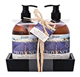 Upper Canada Soap Brompton and Langley Exotic Retreats Hand/Body Wash and Lotion Caddy Gift Set, Provence