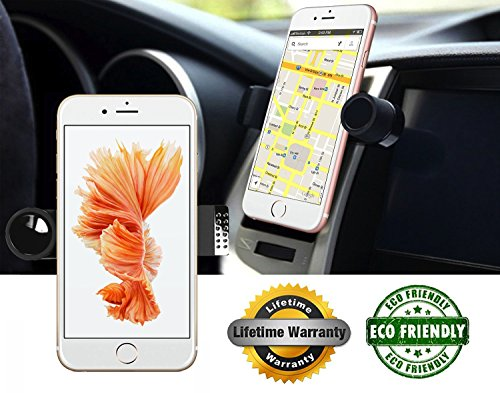 Click to buy - Luxury Car Phone Mount Fits All Vents, 360° Rotation Works With iPhone 6, 6S, SE | 6 Plus, 6S Plus, iPhone 5, 5S | Galaxy S5, S6, S7, S6 Edge | Note 3, 4, 5 | Fits All Smartphones - From only $199