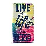 For LG Optimus L90 , PpIiNnKk Personalità [Live the Life You Love] PU Pelle Stand Flip Style Magnetico Portafoglio...