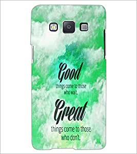 PrintDhaba Quote D-4468 Back Case Cover for SAMSUNG GALAXY A5 (Multi-Coloured)