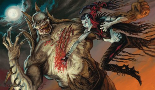 Artists of Magic Premium Playmats: NOSFERATU VS ZOMBIELORD w/artwork by Thomas Baxa Play Mat - 1
