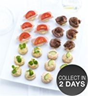 24 Mini Topped Canapé Platter
