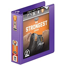Wilson Jones Heavy Duty Round Ring View Binder with Extra Durable Hinge, 2 Inch, Customizable, Purple (W363-44-267)