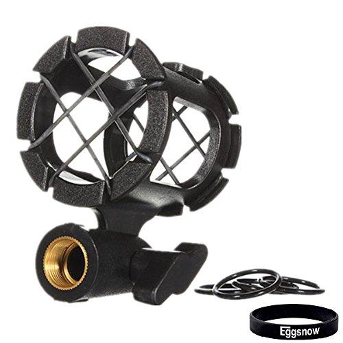 Eggsnow Camera Universal Microphone Shockmount Holder Clip for AKG D230, Senheisser ME66, Rode NTG-2,NTG-1,Audio-Technica AT-875R etc (Shock Mount)