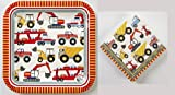 Meri Meri Big Rig - Construction - Party Pack - Boys Birthday Party - 12 Plates 16 Napkins