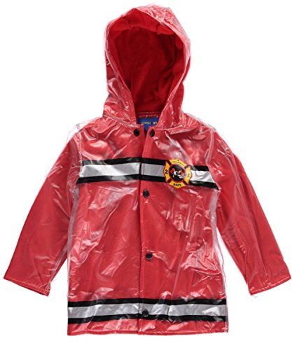 Wippette Baby Boys' Firetruck Rain Coat, Red, 12 Months