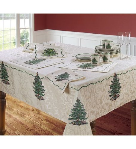 Spode Ivory Christmas Tree Tablecloth 60 x 84 Spode Christmas Tree Cloth