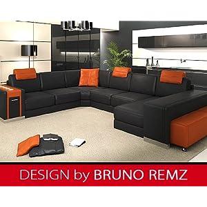 billig kaufen bruno remz kiezb hel leder sofa ledersofa. Black Bedroom Furniture Sets. Home Design Ideas