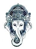 Wonbeauty Halloween temporäre Tattoos für Männer und Frauen Elefant Königin