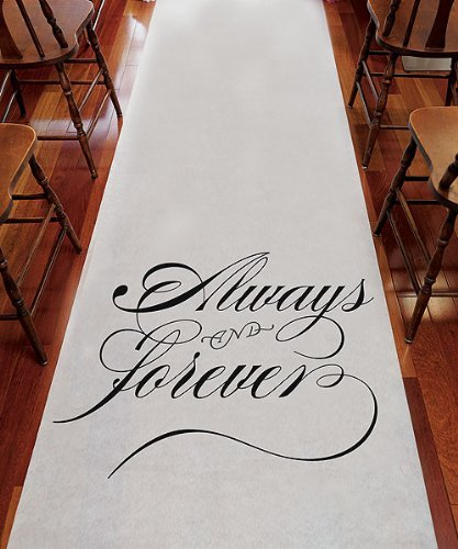 Weddingstar-9300-Always-Forever-Wedding-Aisle-Runner