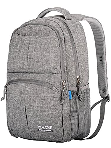 12. Mozone Large Lightweight Water Resistant College School Laptop Backpack Travel Bag