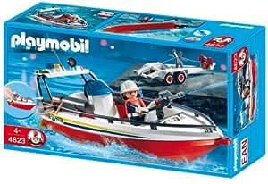 Playmobil - 4823 - Jeu de construction - Bateau de pompier