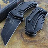 Mtech Ballistic Tactical Framelock Pocket Ao Knife Steel Blade Composite Handle