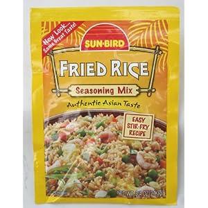 Sun Bird Fried Rice Seasoning Packet, .75 oz. (Pack of 12)