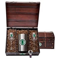 Oregon Ducks Team Logo Wine Gift Set by Heritage Metalwork