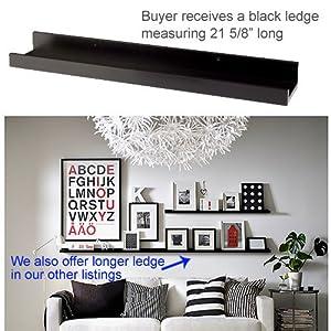 7 Ikea Ribba Black Floating Ledge For Photos Pictures And Frames 21 58 Long Floating Shelves Floating Shelves