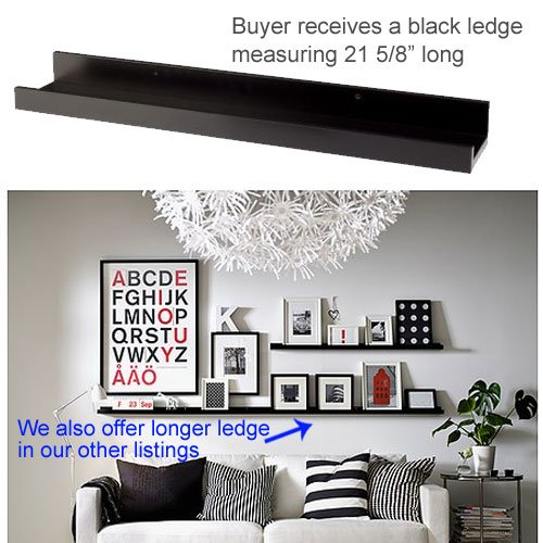 IKEA Ribba Black Floating Ledge