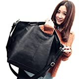 Zeagoo Womens Retro PU Big Handbag Cross Bag Satchel Shoulder Bag Messenger Tote