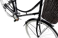 """Ammaco Classique Traditional Dutch Style Classic Heritage Ladies Lifestyle Bike With Basket 19"""" Frame Dutch Style Black by AMMACO"""