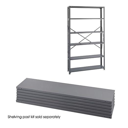 "Industrial 6 Shelf Shelving Unit Size: 85"" H x 48"" W x 12"" D"