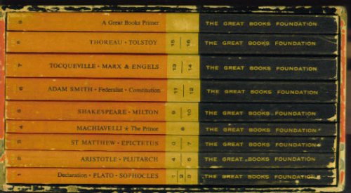 Image for THE GREAT BOOKS ~ First Year Course ~ 9 books in slipcase (The Great Books, First Year Course ~ Readings for Discussion)