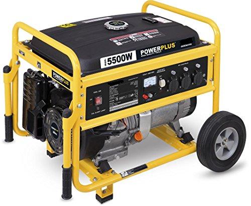 Powerplus Mobiler benzinbetriebener Stromerzeuger, Generator, Notstromaggregat 5.500 Watt