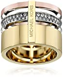 Michael Kors Tri Tone Barrel Ring