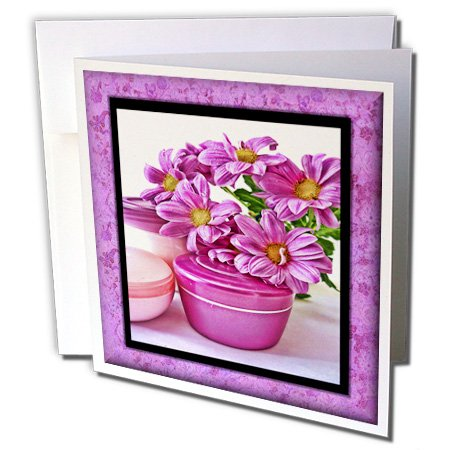 Susan Brown Designs General Themes - Flowers and Cream at the Spa - 6 Greeting Cards with envelopes (gc_41281_1)