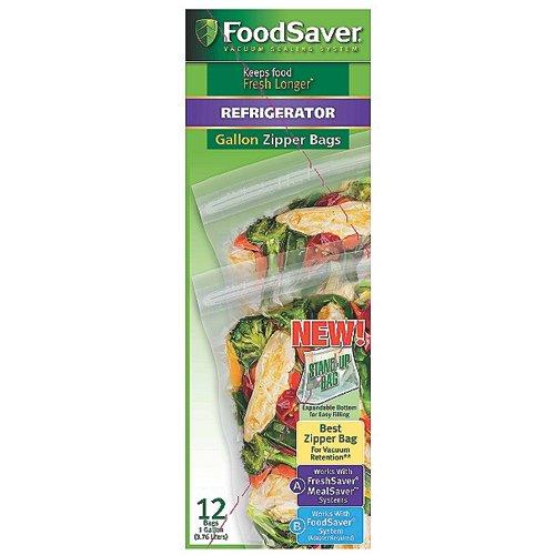 FoodSaver FSFRBZ0316 FreshSaver 1-Gallon Zipper