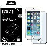 Trop Saint ® Film Protecteur d'écran pour iPhone 5 / 5C / 5S en Verre Trempé 0,4mm Transparente et Invisible Ultra-Clair Haute Qualité Ultra Résistant INRAYABLE Tempered Glass