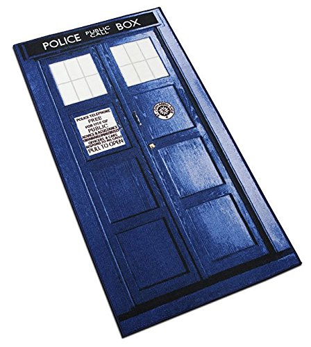 [Doctor Who XL Rectangle Tardis Rug (6ft)] (Iconic Movie Characters Costumes)