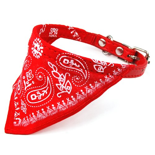 HM Adjustable Pet Dog Cat Bandana Scarf Collar Small Size Red