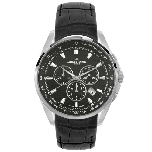 Jacques Lemans Men's Geneve Tempora Chronograph Collection Watch #GU188A - Buy Jacques Lemans Men's Geneve Tempora Chronograph Collection Watch #GU188A - Purchase Jacques Lemans Men's Geneve Tempora Chronograph Collection Watch #GU188A (Jacques Lemans, Jewelry, Categories, Watches, Men's Watches, Casual Watches, Leather Banded)