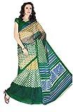 Khushali Presents Bhagalpuri Saree(Green,Multi)