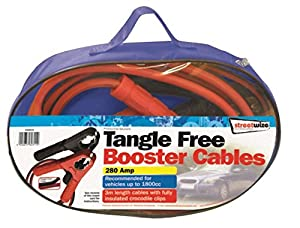Streetwize SWBC6 Booster Cables 3 m Tangle Free XHD Clip 280 A