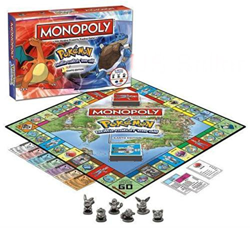 Pokemon Kanto Region Collectors Edition Family Board Monopoly Game New