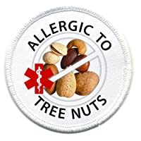 ALLERGIC to TREE NUTS Allergy Medical Alert 3 inch Sew-on Patch from Creative Clam