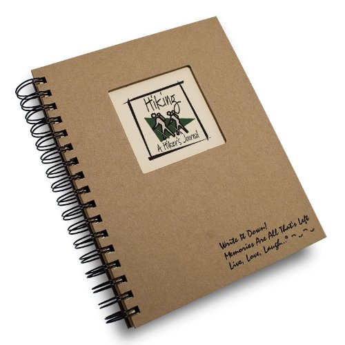 Hiking, A Hiker's Journal - Kraft Hard Cover (prompts on every page, recycled paper, read more...)