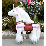 New Ponycycle Pony Cycle Ride On Horse No Need Battery No Electric Just Walking Horse WHITE UNICORN