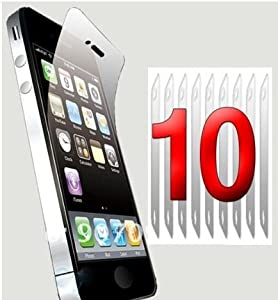 iPhone 4/4s Screen Protectors, pack of 10 with cleaning cloth, keep your screen looking new for less than £2