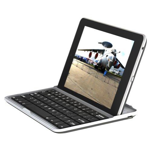 【minisuit】Google Nexus 7 アルミフィニッシュ ワイヤレス キーボード スタンド カバー シルバー シルバー