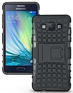 Wellmart Hybrid Defender Military Grade Armor Kick Stand Back Case Cover for Samsung Galaxy J7 2016 (Black)