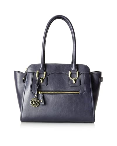 London Fog Women's Knightsbridge Triple Satchel, Navy As You See